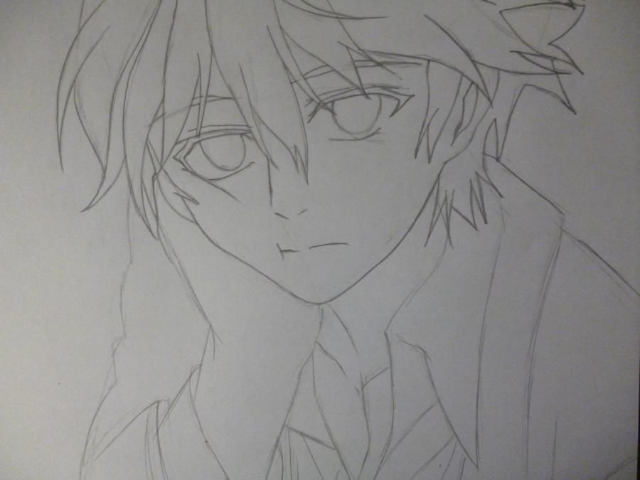 How to draw Mikage from an anime It is very pleasant, God a pencil 4