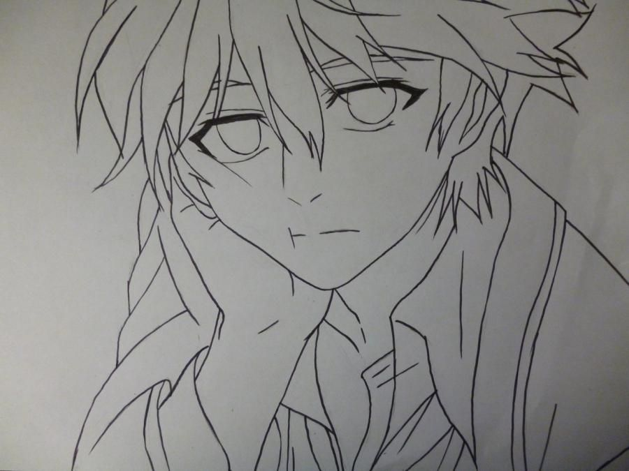 How to draw Mikage from an anime It is very pleasant, God a pencil 5