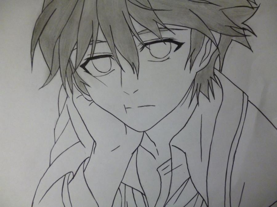How to draw Mikage from an anime It is very pleasant, God a pencil 6