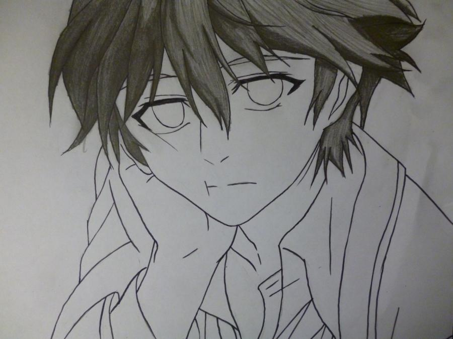 How to draw Mikage from an anime It is very pleasant, God a pencil 7