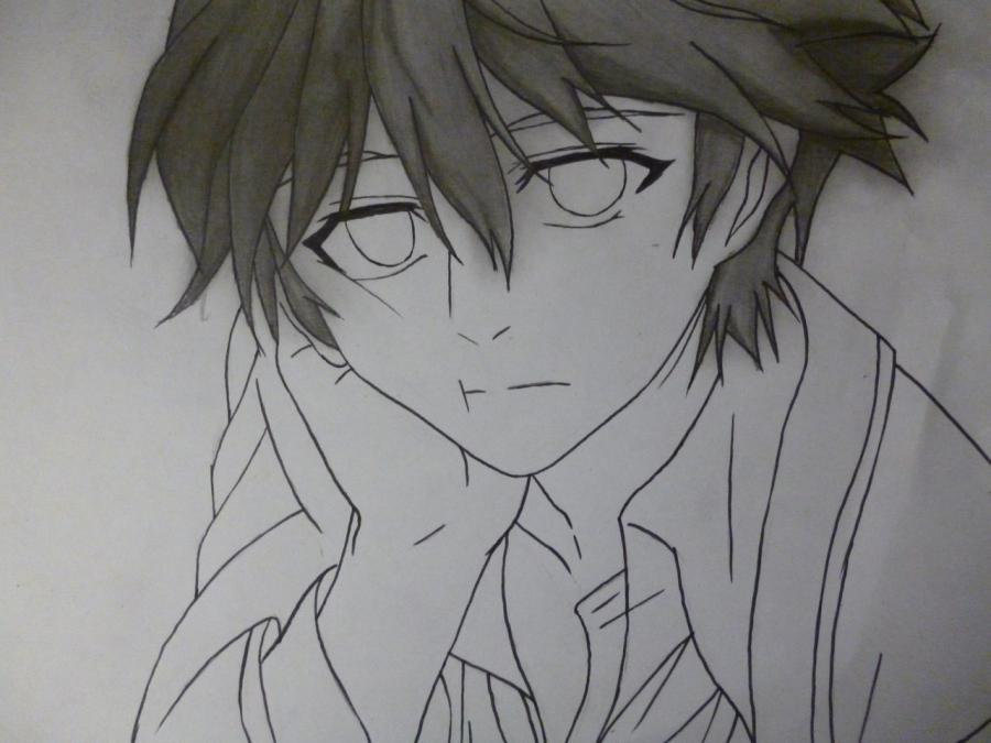 How to draw Mikage from an anime It is very pleasant, God a pencil 8