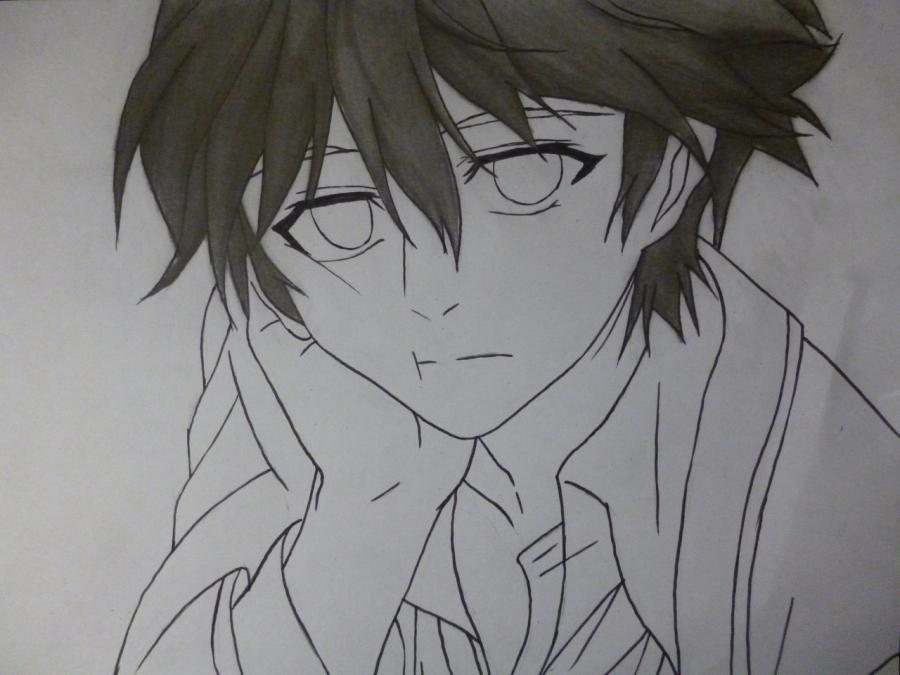 How to draw Mikage from an anime It is very pleasant, God a pencil 9