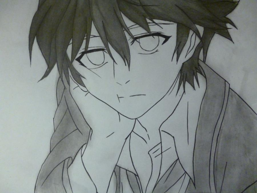 How to draw Mikage from an anime It is very pleasant, God a pencil 10