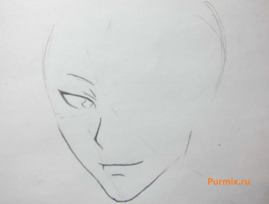 How to draw Tomoe from an anime It is very pleasant, God step by step 3