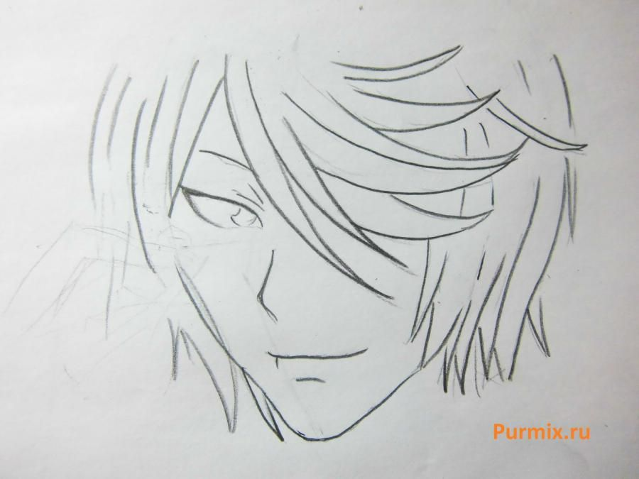 How to draw Tomoe from an anime It is very pleasant, God step by step 4