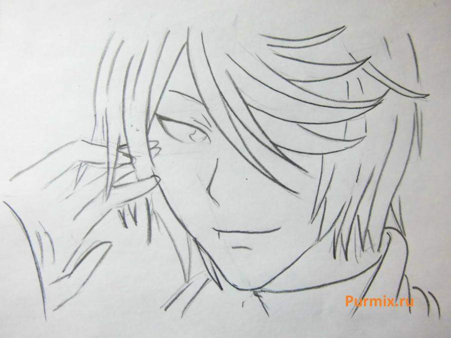 How to draw Tomoe from an anime It is very pleasant, God step by step 5