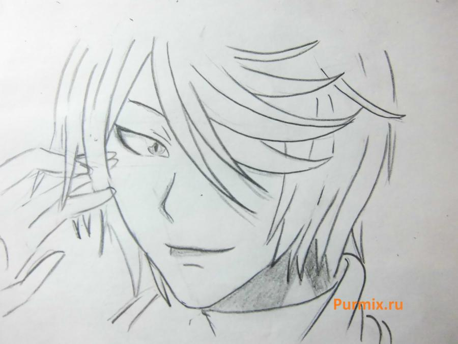 How to draw Tomoe from an anime It is very pleasant, God step by step 6