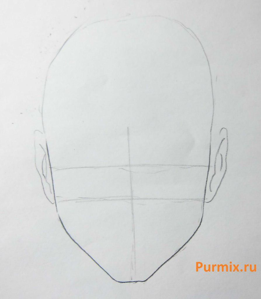 How to draw Hotara Tomo from Seylor Mun with a simple pencil 2