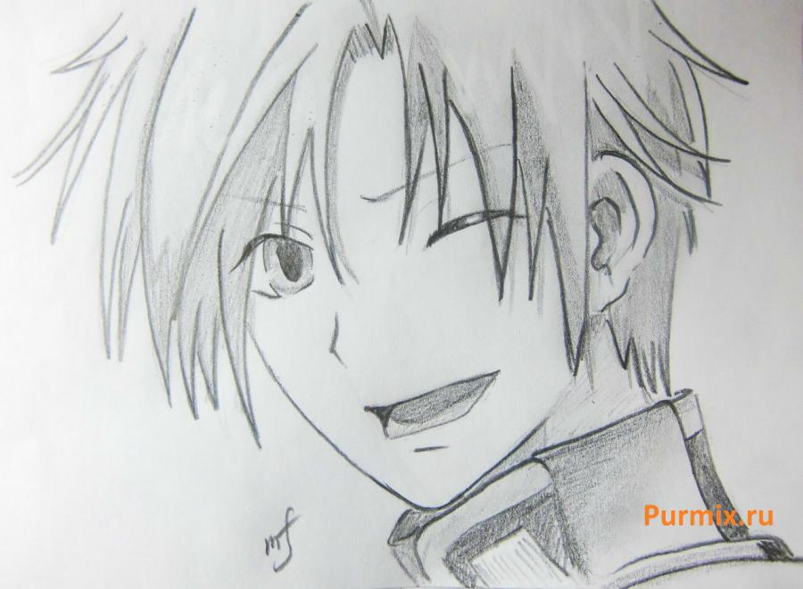 How to draw Mikage from an anime It is very pleasant, God a pencil