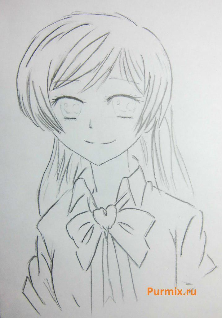 How to draw Sayaka Mikey from an anime the Magician Madoka Magika 5