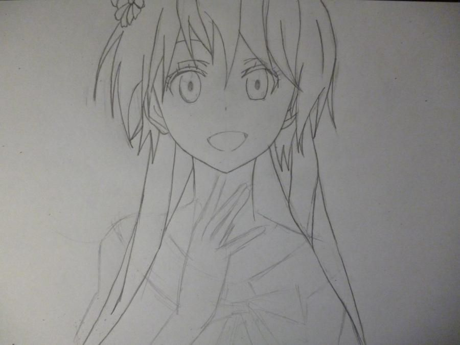 How to draw Chitoga Kirisaki from an anime Feigned love 4
