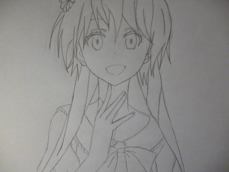 How to draw Chitoga Kirisaki from an anime Feigned love 5