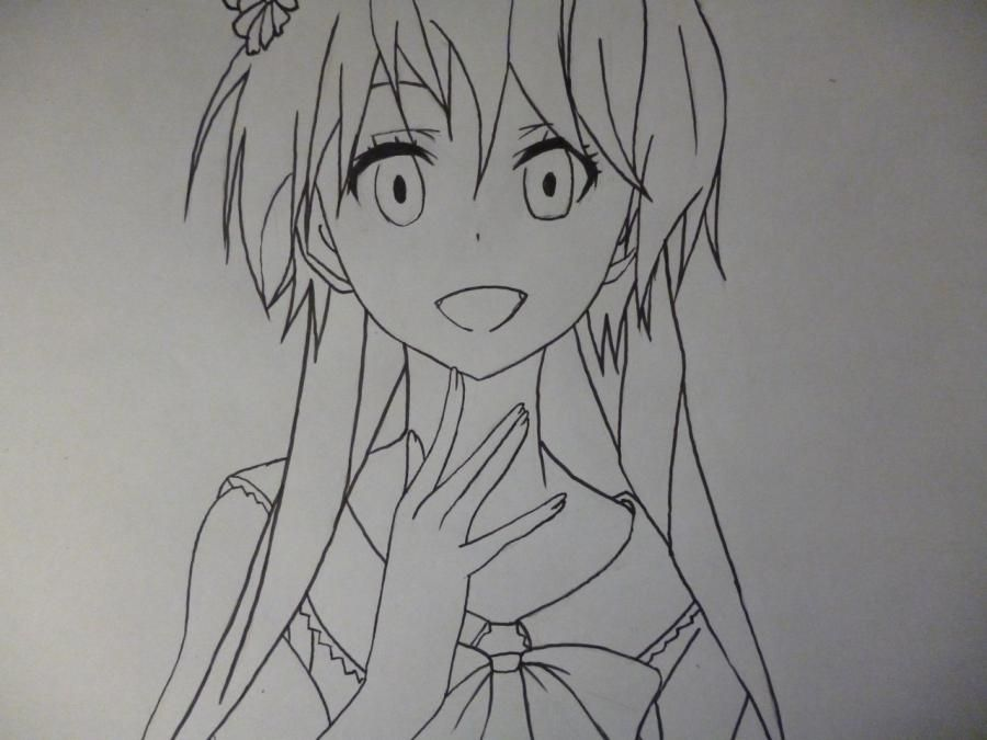 How to draw Chitoga Kirisaki from an anime Feigned love 6