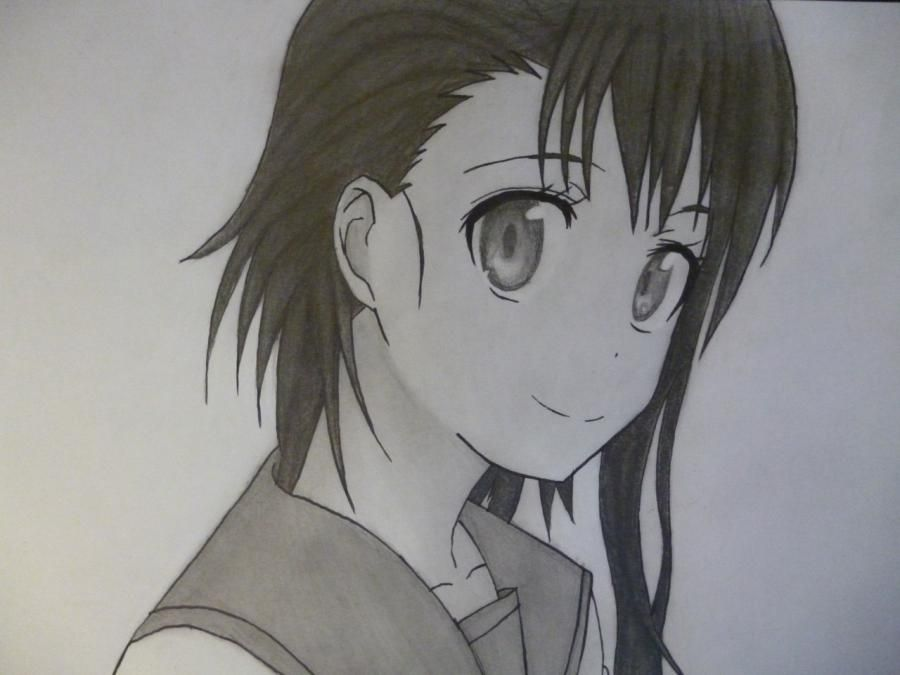 How to draw Kyoko Sakur from an anime the Magician Madoka Magika with a pencil 13