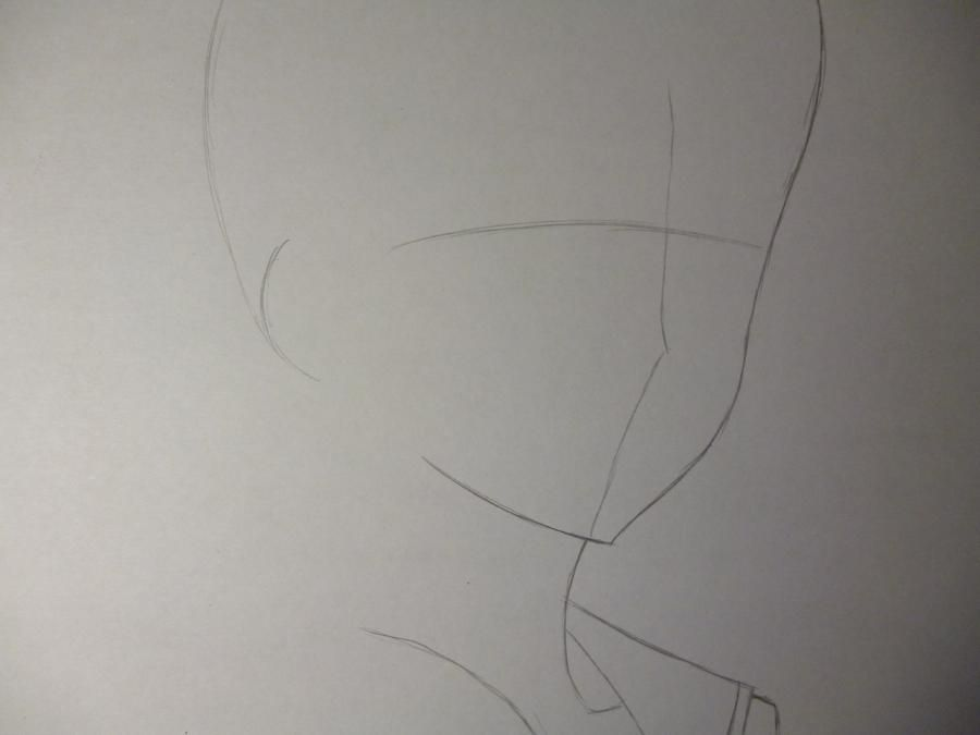 How to draw Sakakibar Koichi from an anime Other with a simple pencil 2