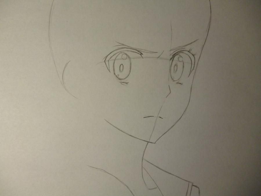 How to draw Sakakibar Koichi from an anime Other with a simple pencil 3