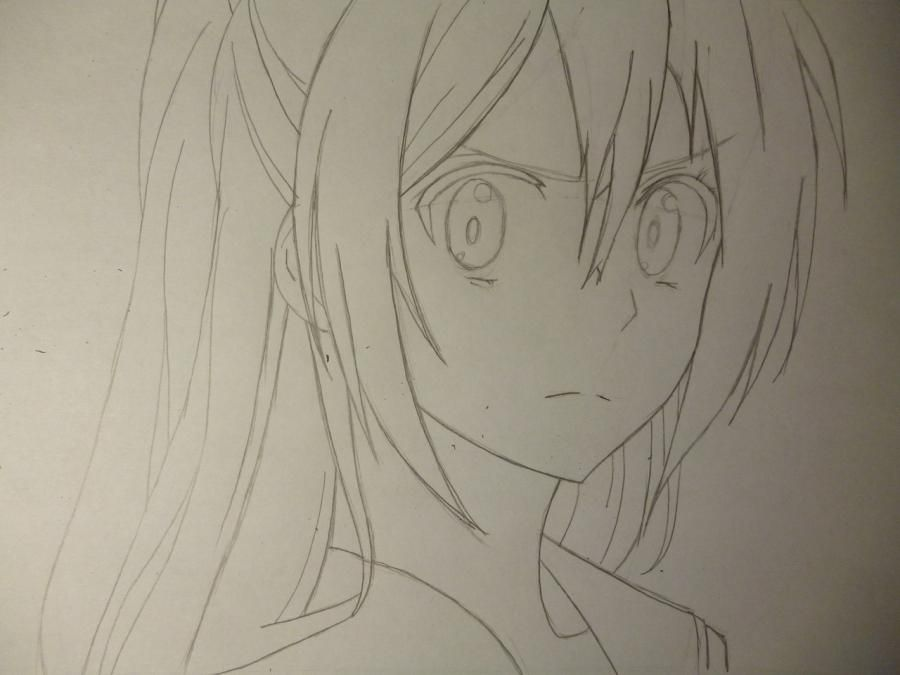 How to draw Sakakibar Koichi from an anime Other with a simple pencil 4