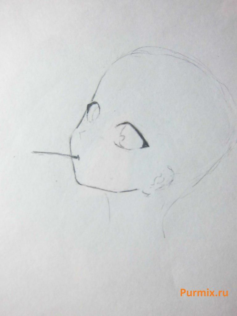 As to draw with a simple pencil Misaki Mai from an anime Other 3