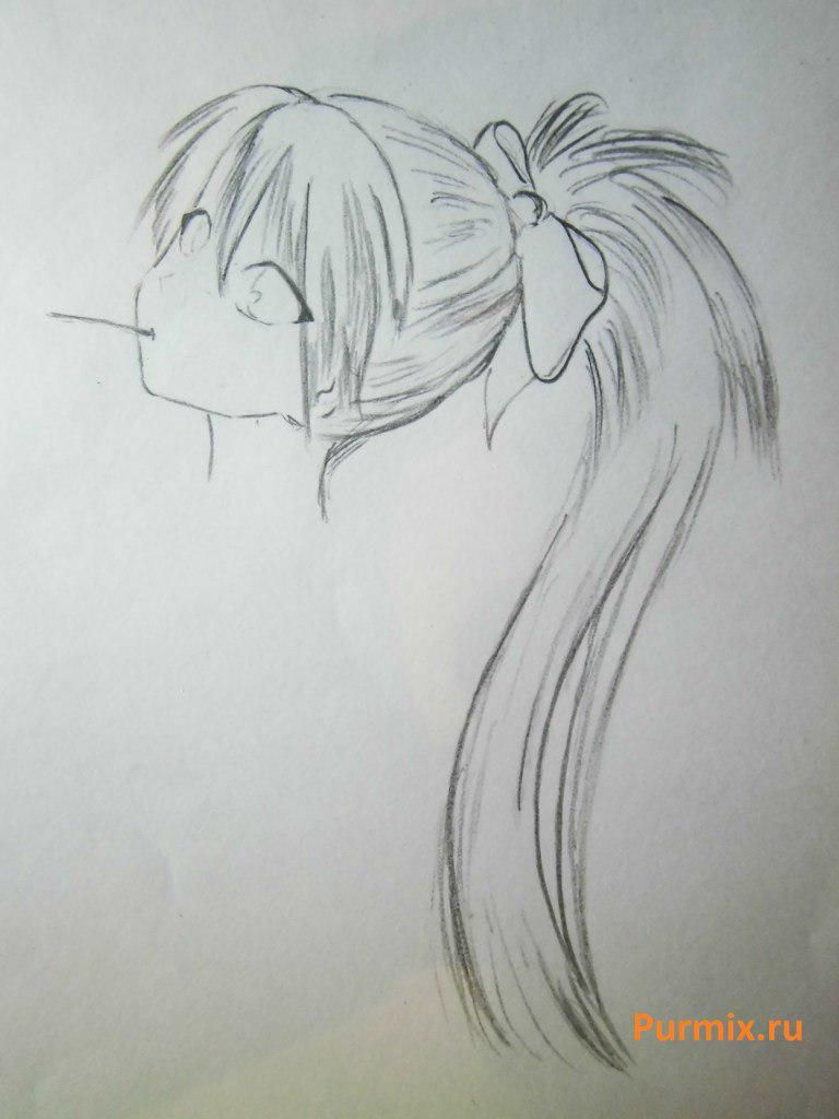 As to draw with a simple pencil Misaki Mai from an anime Other 4