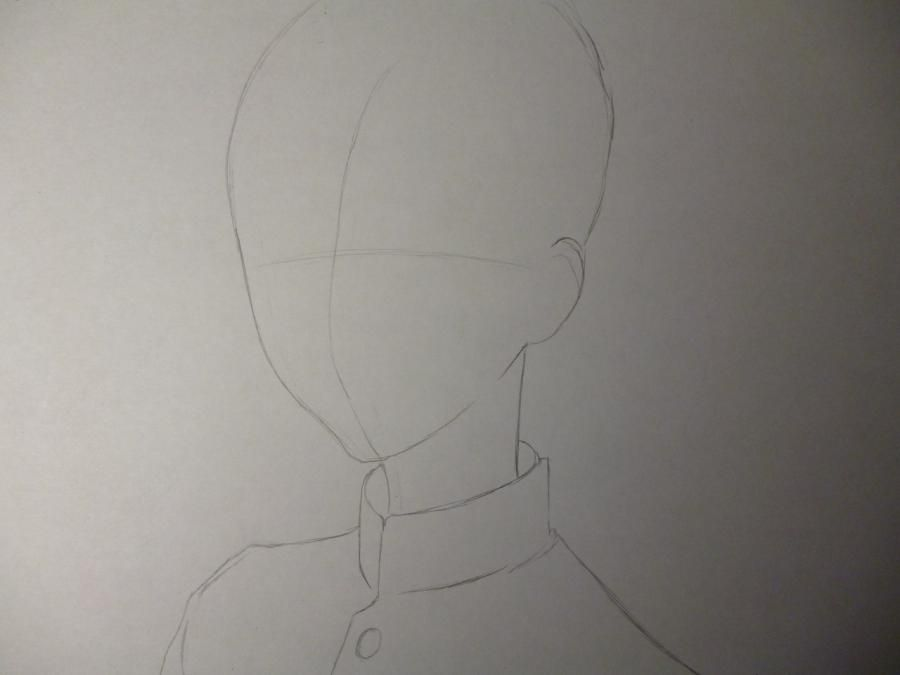 How to draw Noel from an anime the mermaid's Melody with a pencil step by step 2