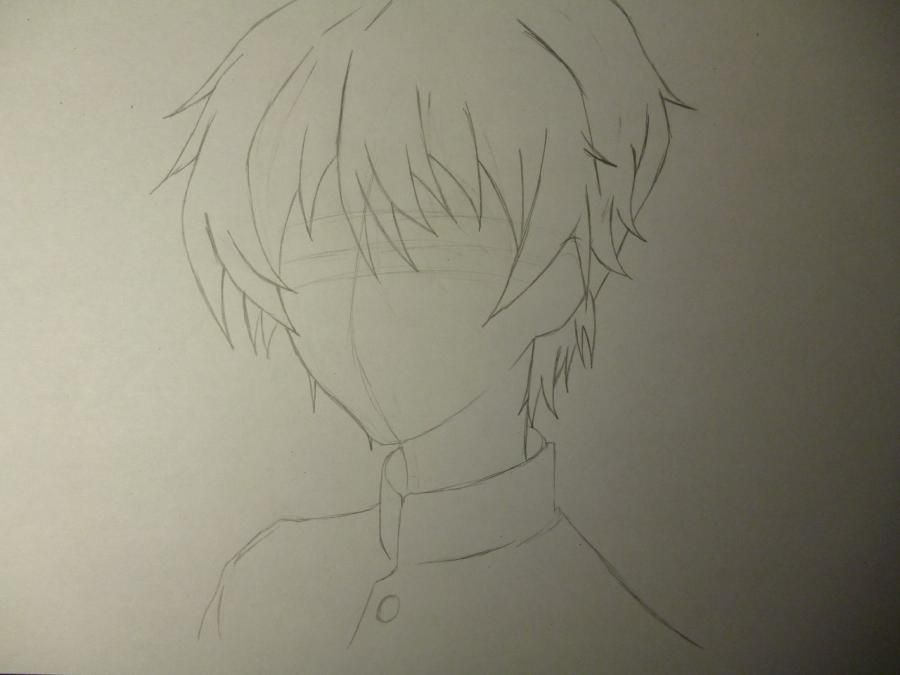 How to draw Noel from an anime the mermaid's Melody with a pencil step by step 3