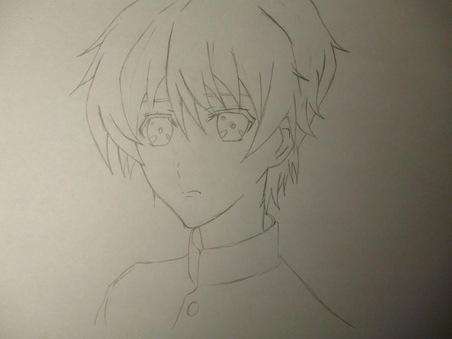 How to draw Noel from an anime the mermaid's Melody with a pencil step by step 4