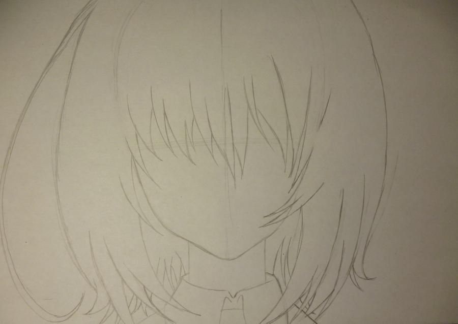 How to draw Seyra from an anime the mermaid's Melody with a simple pencil 3