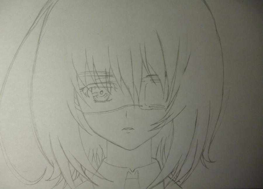 How to draw Seyra from an anime the mermaid's Melody with a simple pencil 4