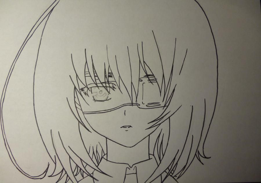 How to draw Seyra from an anime the mermaid's Melody with a simple pencil 5