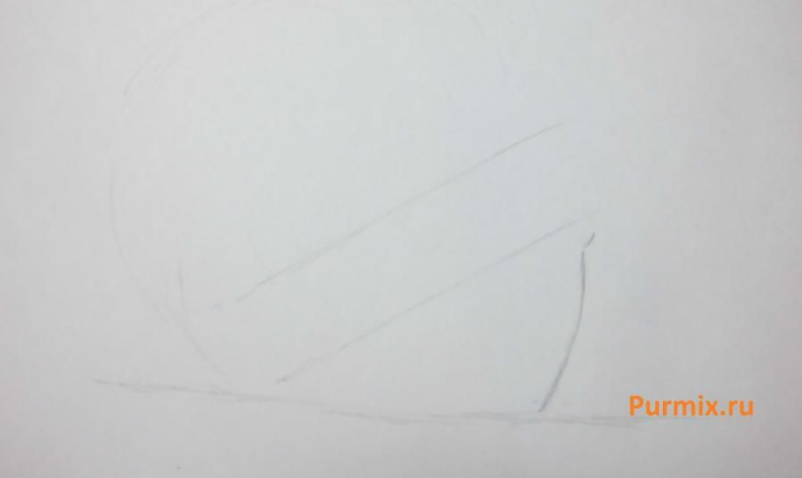 How to draw Sara from an anime the mermaid's Melody with a simple pencil 2