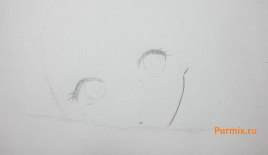 How to draw Sara from an anime the mermaid's Melody with a simple pencil 3