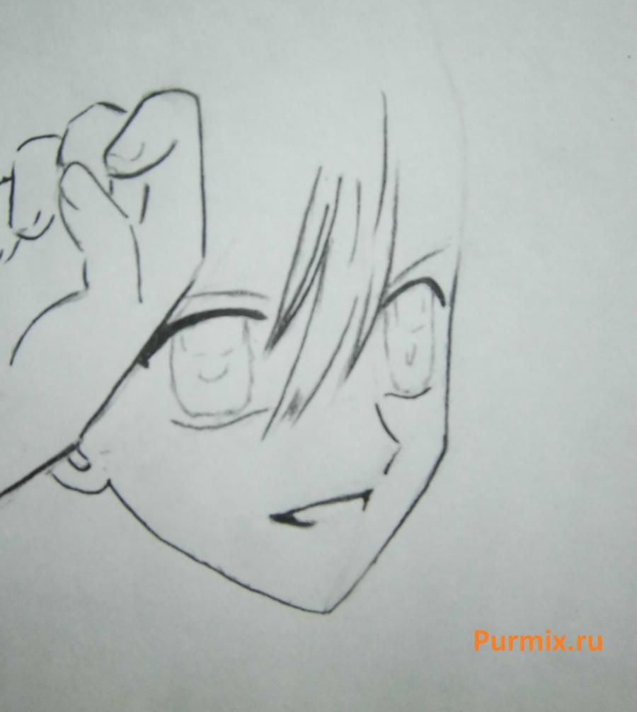 How to draw Lina from an anime the mermaid's Melody with a simple pencil step by step 11