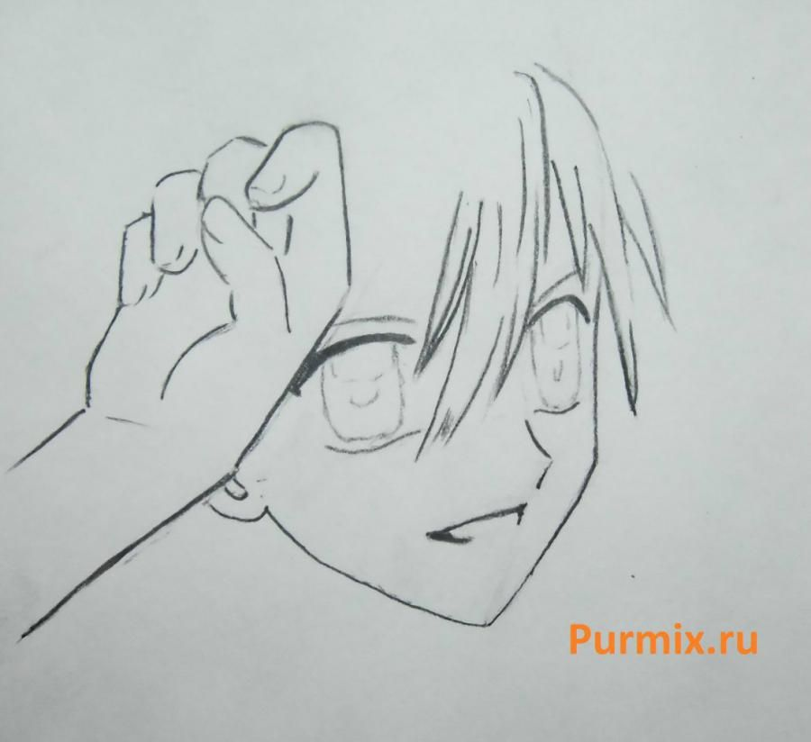 How to draw Lina from an anime the mermaid's Melody with a simple pencil step by step 12