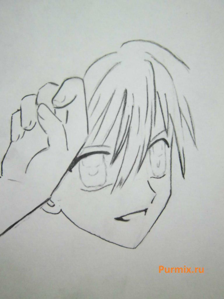 How to draw Lina from an anime the mermaid's Melody with a simple pencil step by step 13