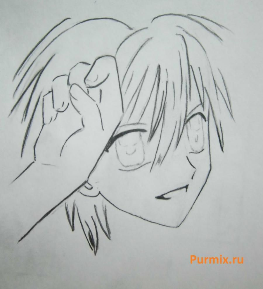 How to draw Lina from an anime the mermaid's Melody with a simple pencil step by step 14