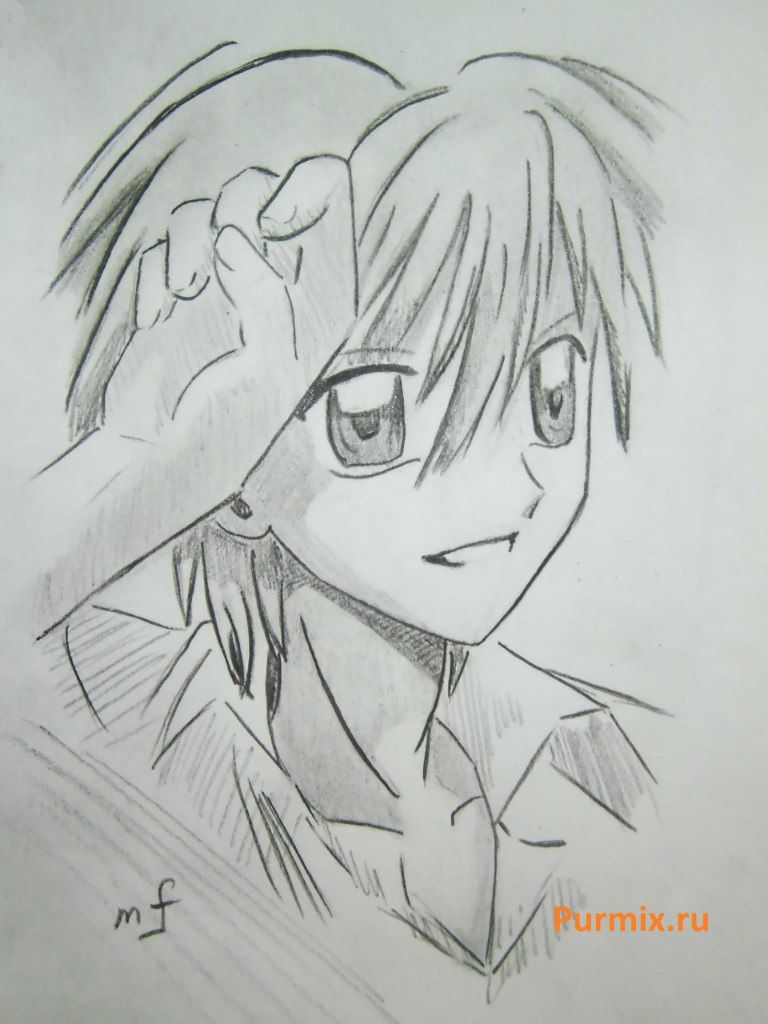 How to draw Domoto Kayto from an anime the mermaid's Melody