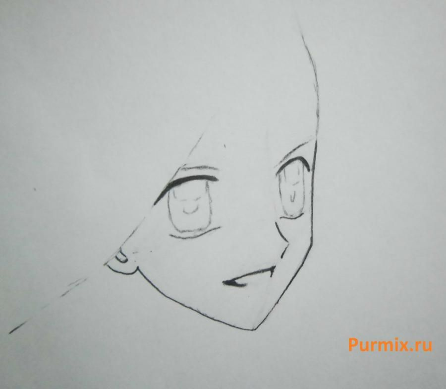 How to draw Lina from an anime the mermaid's Melody with a simple pencil step by step 3