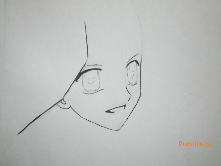 How to draw Lina from an anime the mermaid's Melody with a simple pencil step by step 4
