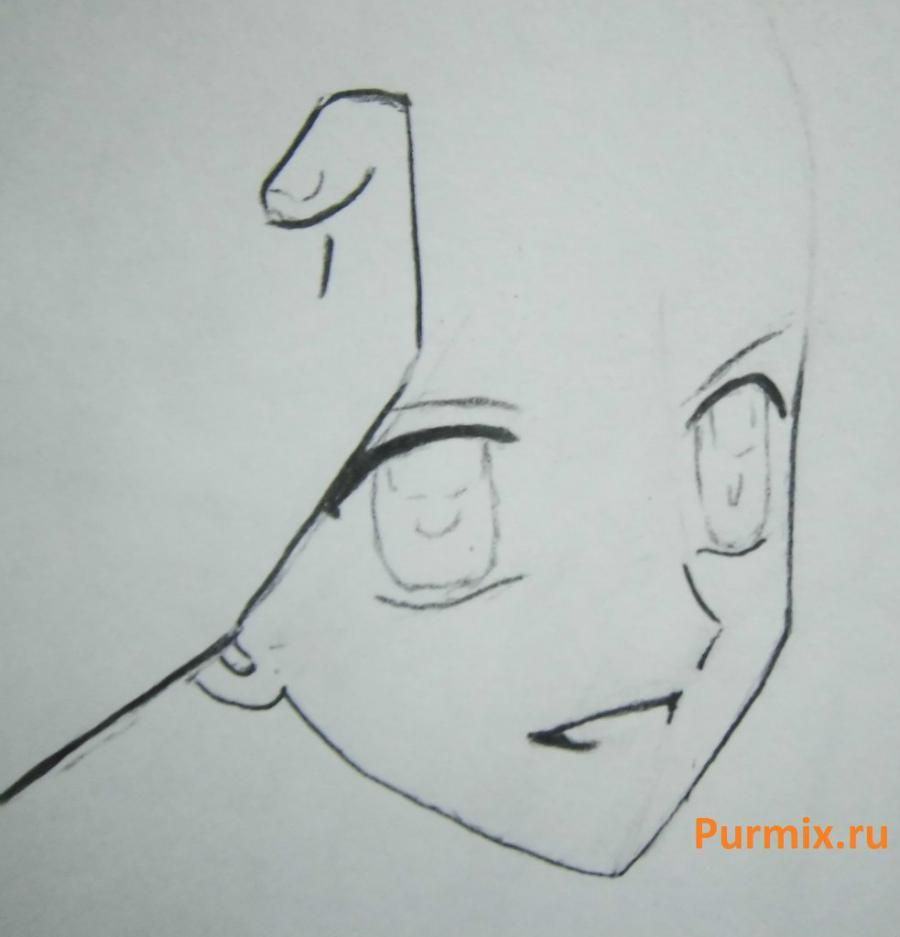 How to draw Lina from an anime the mermaid's Melody with a simple pencil step by step 5