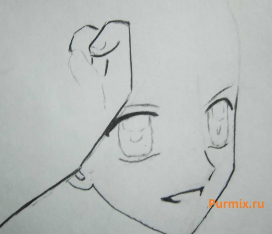 How to draw Lina from an anime the mermaid's Melody with a simple pencil step by step 6