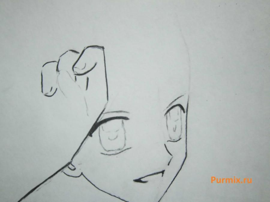 How to draw Lina from an anime the mermaid's Melody with a simple pencil step by step 7
