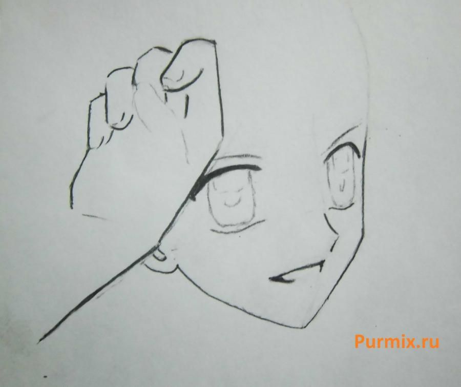How to draw Lina from an anime the mermaid's Melody with a simple pencil step by step 8