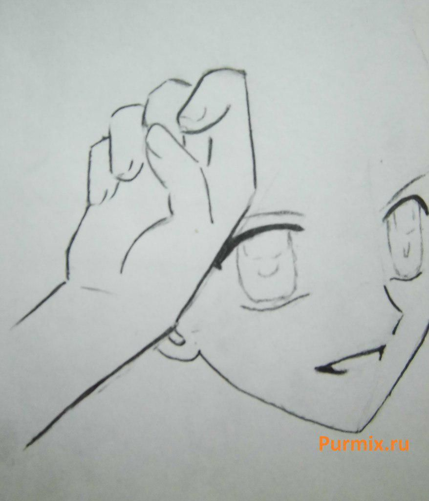 How to draw Lina from an anime the mermaid's Melody with a simple pencil step by step 9