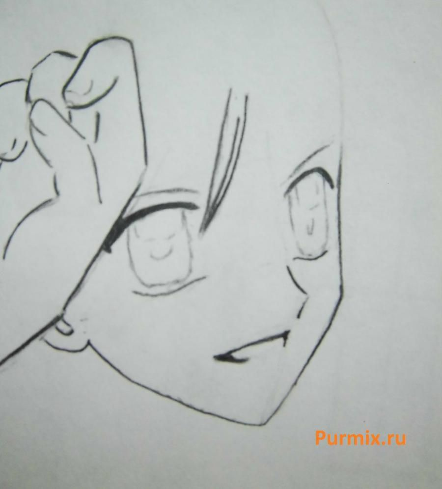 How to draw Lina from an anime the mermaid's Melody with a simple pencil step by step 10