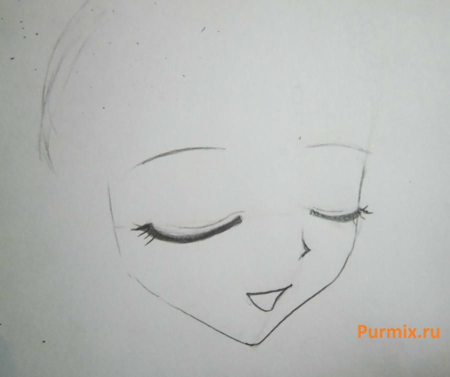 How to draw Lyuchiya from an anime the mermaid's Melody with a simple pencil 3