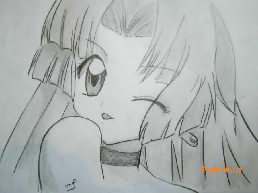 How to draw Seyra from an anime the mermaid's Melody with a simple pencil