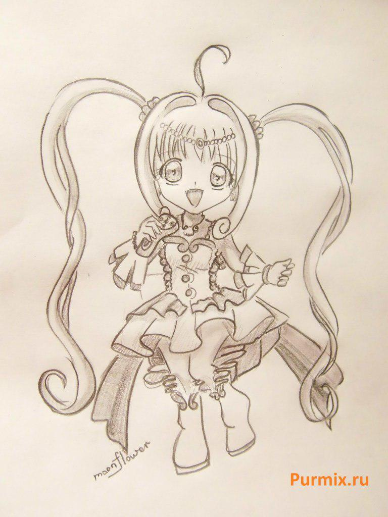 How to draw Lyuchiya from an anime the mermaid's Melody with a simple pencil