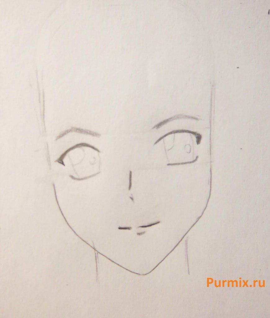 How to draw Kokoa Syudzen from Rosario's anime + the Vampire step by step 3