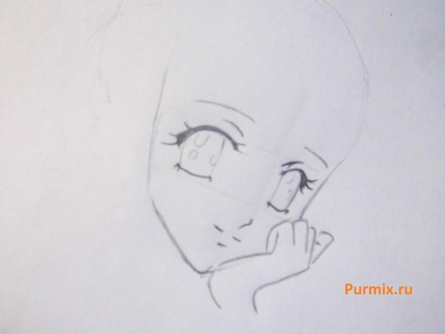 How to draw Yukari Sendo from Rosario + the Vampire with a simple pencil 3