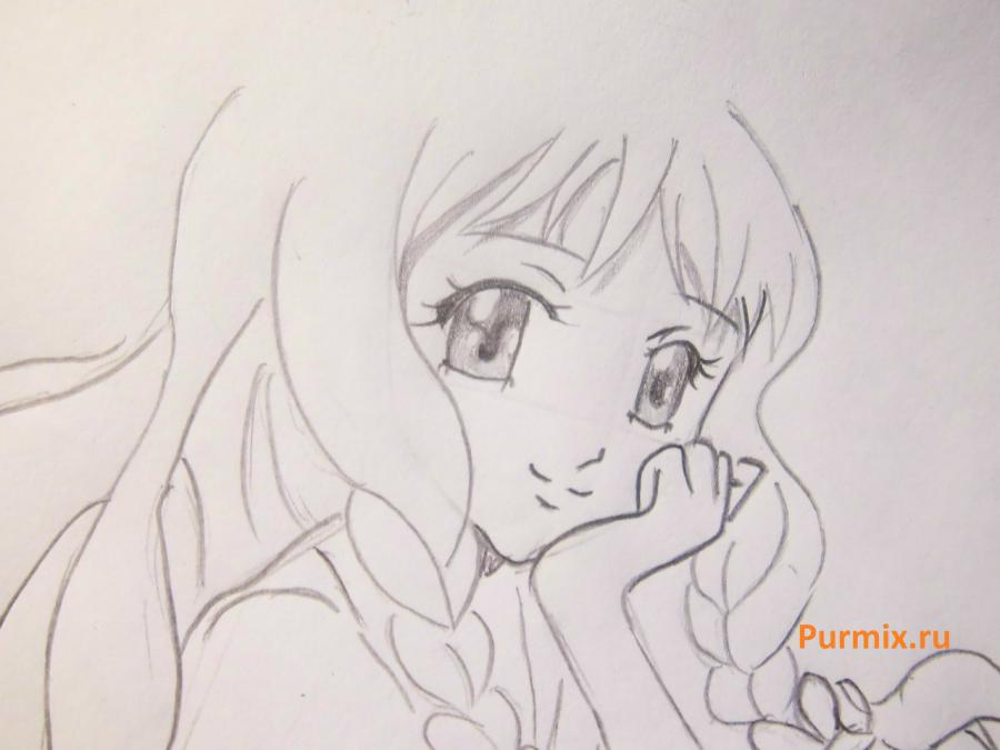 How to draw Yukari Sendo from Rosario + the Vampire with a simple pencil 6